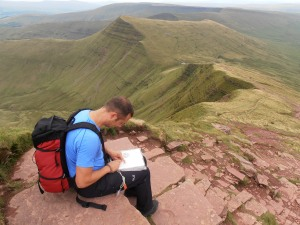 Navigation training in the Brecon Beacons