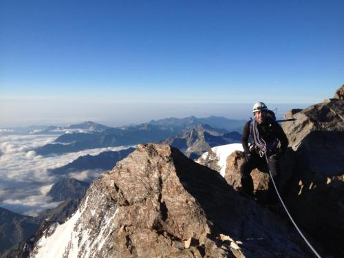 Steve K on the summit of Corno Nero with Mountain Experience