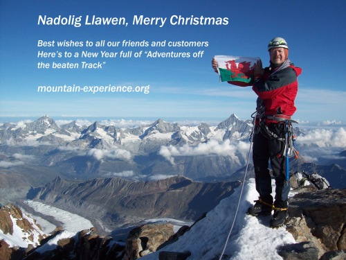 Mountain experience wish you all a very merry Christmas and best wishes for 2014.