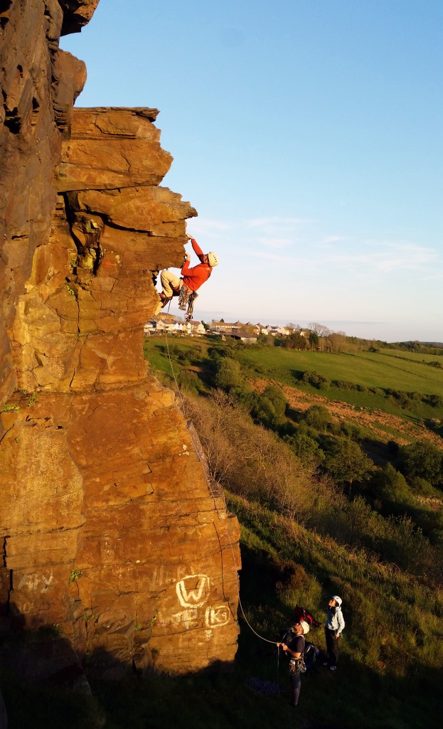 Climbing in the Welsh Valleys. Photo by Amber Chaloner