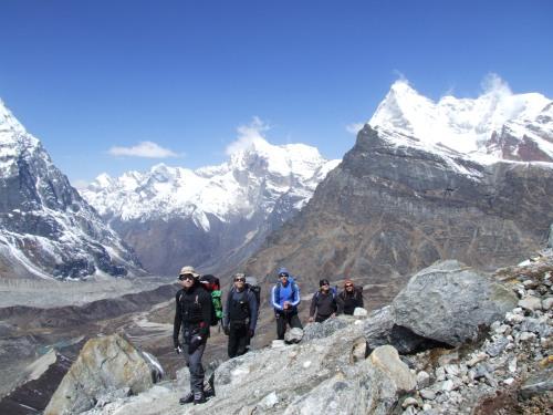 Moving toward the Mera glacier