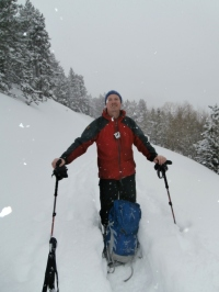 Snowshoe trekking in the French Pyrenees