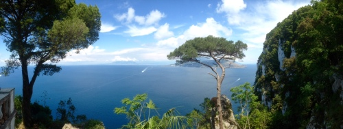 View from Villa Lysis, Capri, back to the mainland