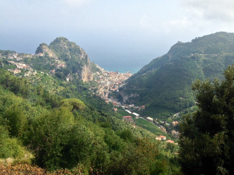 A view down to Amalfi
