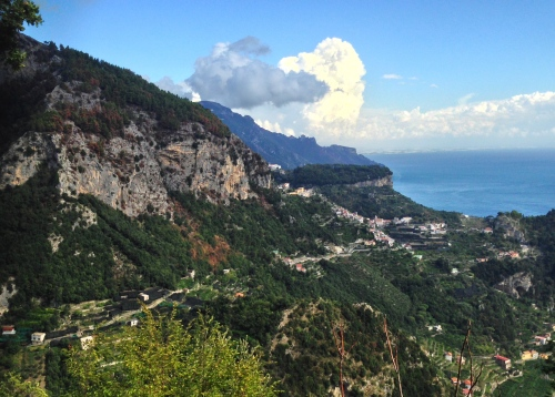 Team Ultimo enjoyed a fabulous view toward Ravello after dodging the storms.