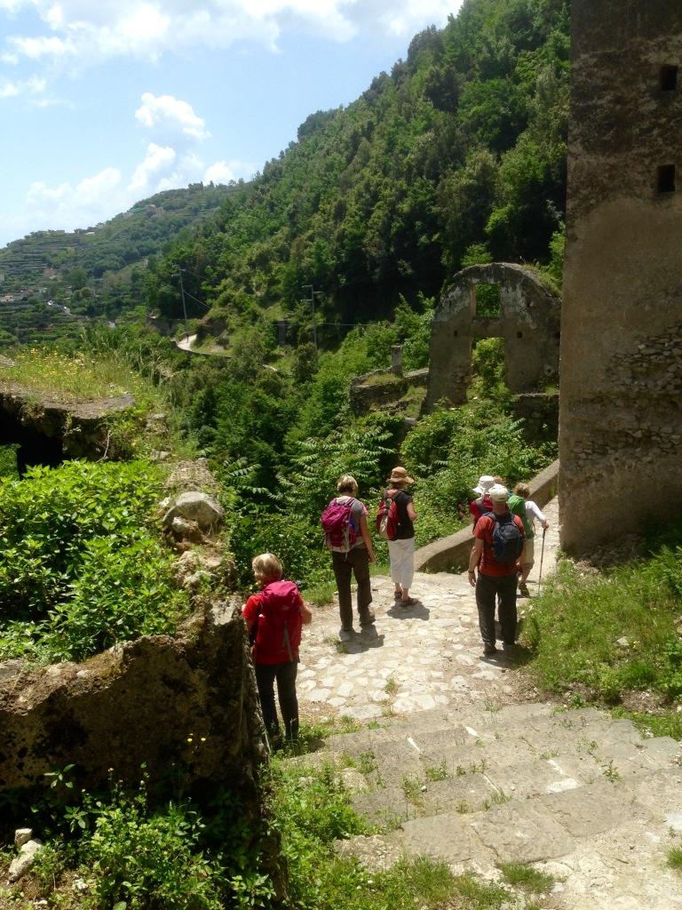 Descending the path toward Minori