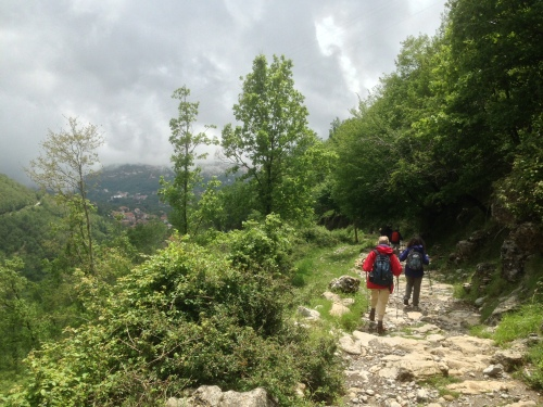 Descending into the Agerola basin on Amalfi walks.