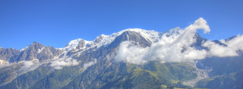 Mt Blanc as seen from Le Prarion