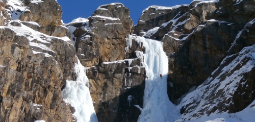 Patri is a multi pitch ice climb near Valnontey